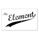 The Element Rectangle Sticker 10 pk)