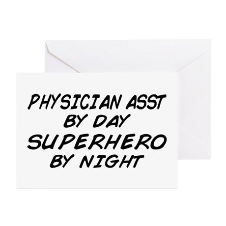 Physician Assistant Superhero by Night Greeting Ca