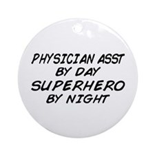Physician Assistant Superhero by Night Ornament (R