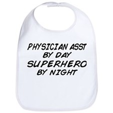Physician Assistant Superhero by Night Bib