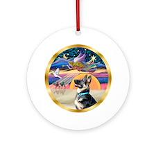 Xmas Star -German Shepherd 15 Ornament (Round)