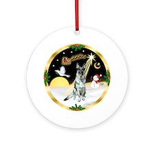 Night Flight-German Shepherd 12 Ornament (Round)