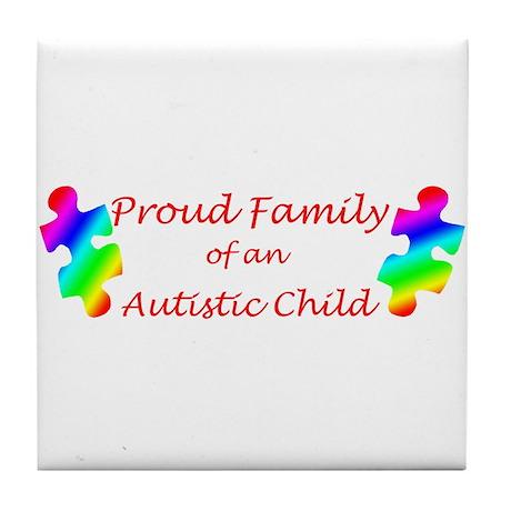 Autism Family Tile Coaster