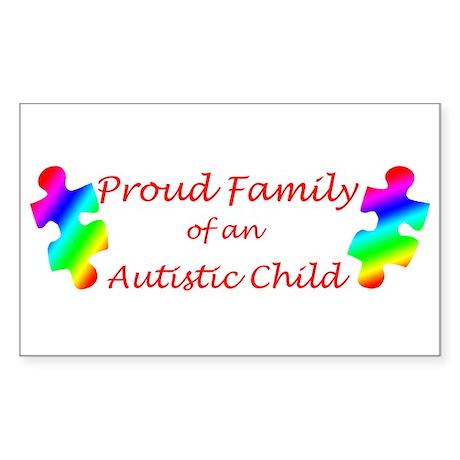 Autism Family Rectangle Sticker