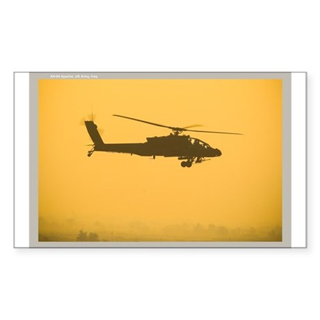 AH-64 Apache Rectangle Sticker