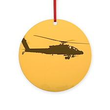 AH-64 Apache Ornament (Round)