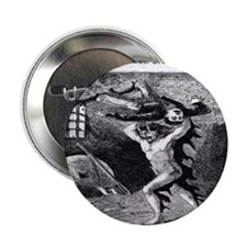 "Spring heeled jack 2.25"" Button"