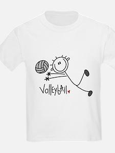 Stick Figure Volleyball T-Shirt