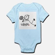Stick Figure Volleyball Infant Bodysuit