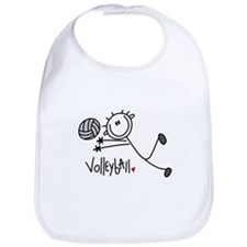 Stick Figure Volleyball Bib