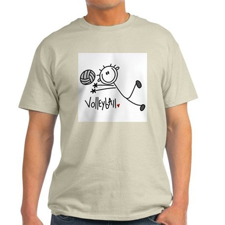 Stick Figure Volleyball Light T-Shirt