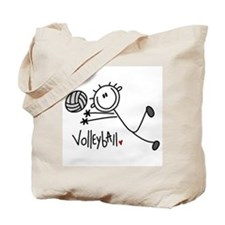 Stick Figure Volleyball Tote Bag