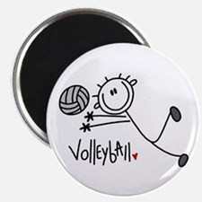 """Stick Figure Volleyball 2.25"""" Magnet (10 pack)"""