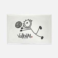 Stick Figure Volleyball Rectangle Magnet