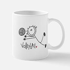 Stick Figure Volleyball Mug