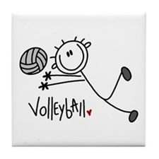 Stick Figure Volleyball Tile Coaster