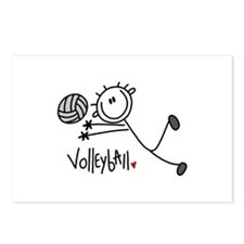 Stick Figure Volleyball Postcards (Package of 8)