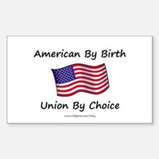Union By Choice Rectangle Decal
