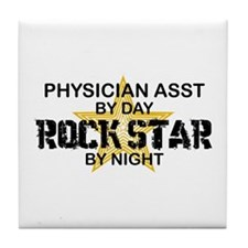Physician Assistant Rock Star by Night Tile Coaste