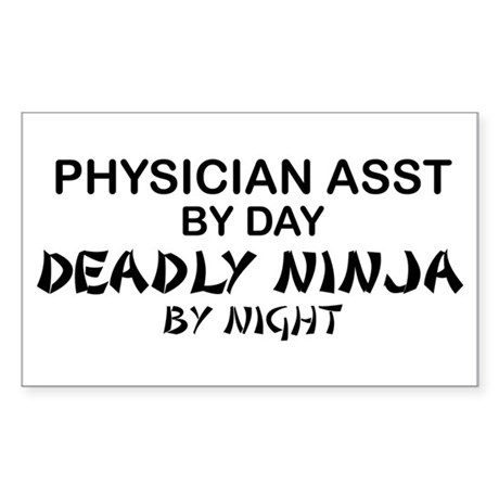 Physician Assistant Deadly Ninja by Night Sticker