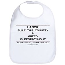 Labor Built The Country Bib