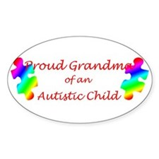 Autism Grandma Oval Decal