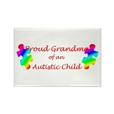 Autism Grandma Rectangle Magnet