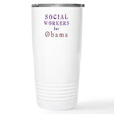 Social Workers for Obama Travel Mug