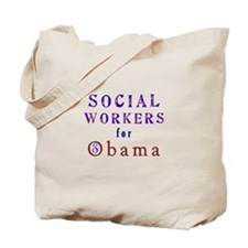Social Workers for Obama Tote Bag