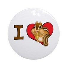 I heart chipmunks Ornament (Round)