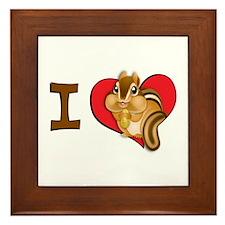 I heart chipmunks Framed Tile
