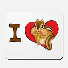 I heart chipmunks Mousepad