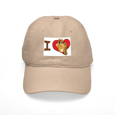 I heart chipmunks Cap