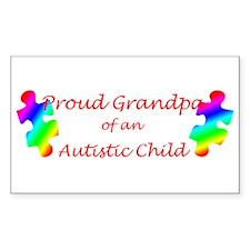 Autism Grandpa Rectangle Decal