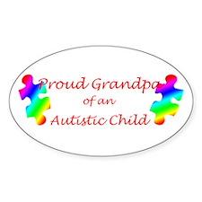 Autism Grandpa Oval Decal