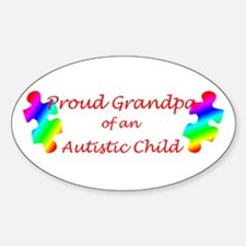 Autism Grandpa Oval Decal