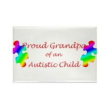 Autism Grandpa Rectangle Magnet