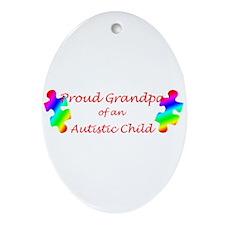Autism Grandpa Oval Ornament