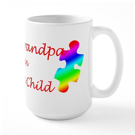 Autism Grandpa Large Mug