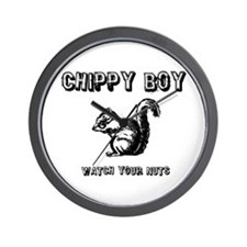 Chippy Boy - Watch Your Nuts Wall Clock