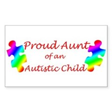 Autism Aunt Rectangle Decal