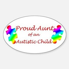Autism Aunt Oval Decal