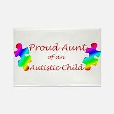 Autism Aunt Rectangle Magnet