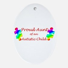 Autism Aunt Oval Ornament