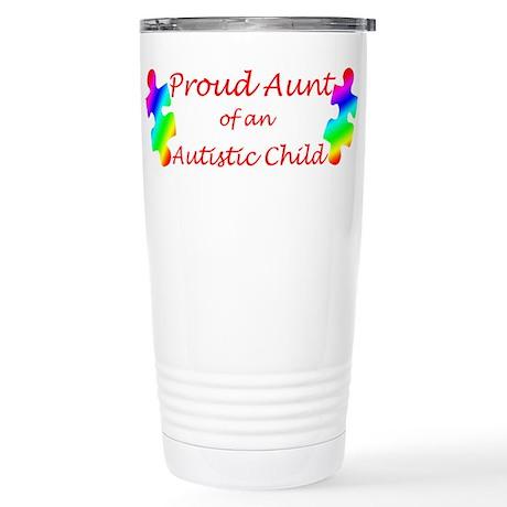 Autism Aunt Stainless Steel Travel Mug