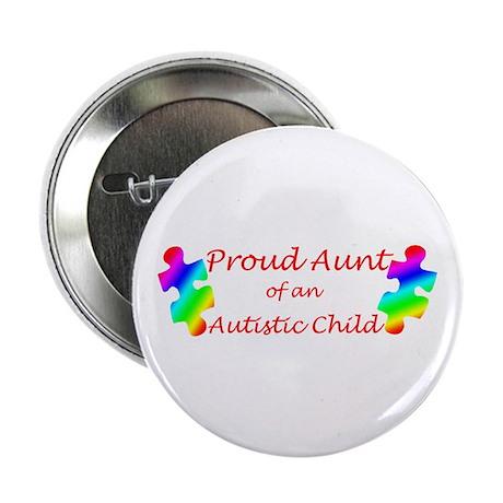 """Autism Aunt 2.25"""" Button"""