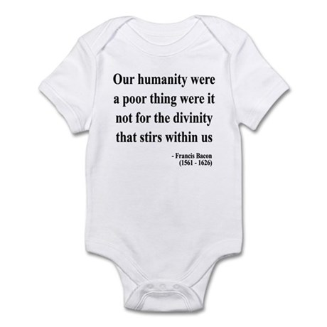 Francis Bacon Text 4 Infant Bodysuit