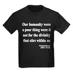 Francis Bacon Text 4 Kids Dark T-Shirt
