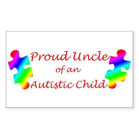 Autism Uncle Rectangle Sticker