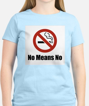 No Means No Pink Tee